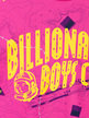 Billionaire Boys Club Nautical Print A/O Arch Logo T-Shirt Pink Thumbnail