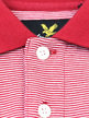Lyle & Scott Fine Stripe Polo Shirt Red Thumbnail