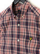 Lyle & Scott Short Sleeve Check Shirt Z465 Red Thumbnail