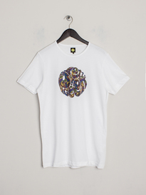 PRETTY GREEN PAISLEY LOGO TEE WHITE