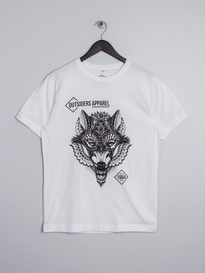 OUTSIDERS APPAREL WOLF COLAB TEE WHITE