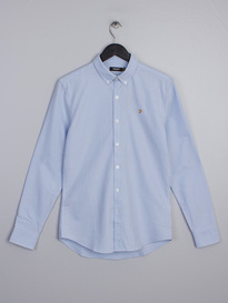 Farah Brewer Slim Shirt Sky Blue