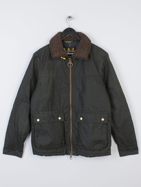 BARBOUR TERMON WAXED JACKET SAGE