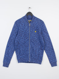 LYLE & SCOTT SPACE DYE BOMBER X01 ADMIRAL BLUE
