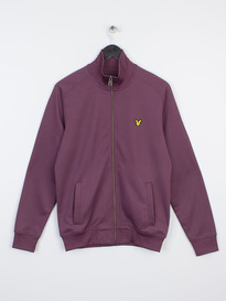 LYLE & SCOTT LS TRICOT JACKET DEEP PLUM