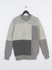 BARBOUR x WHITE MOUNTAINEERING FINHARA CREW NECK CHARCOAL