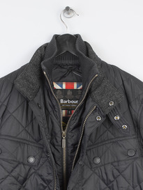 BARBOUR WINDSHIELD QUILTED JACKET BLACK