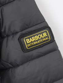 BARBOUR OUSTON HOODED QUILTED JACKET BLACK