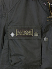 BARBOUR BLACKWELL WAX JACKET SAGE