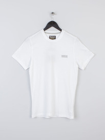 BARBOUR INTERNATIONAL SMALL LOGO TEE WHITE