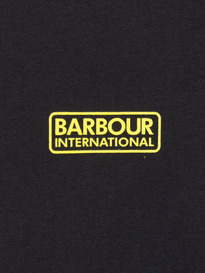 BARBOUR INTERNATIONAL SMALL LOGO TEE BLACK