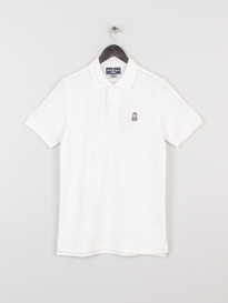PSYCHO BUNNY KR0001-P99 CLASSIC POLO WHITE