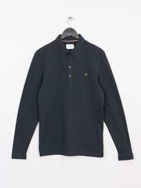 Farah Merriweather Long Sleeve Polo True Navy