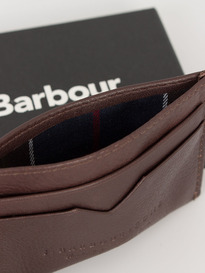 Barbour Card Holder Brown