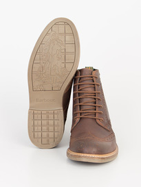 BARBOUR BELSAY BOOT DARK TAN