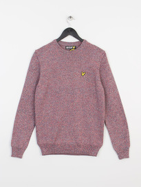 LYLE & SCOTT CREW NECK MOULINE PULLOVER X39 VIBRANT RED