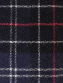 Barbour Tartan Lambsool Scarf Navy & Red