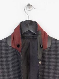 LUKE SQUIRE DOGTOOTH BLAZER BLACK MIX