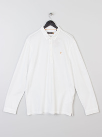Farah Merriweather Long Sleeve Polo White