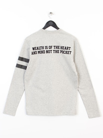 BILLIONAIRE BOYS CLUB PROPERTY LONG SLEEVE TSHIRT HEATHER GREY
