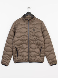 LUKE WESTY QUILTED FUNNEL NECK JACKET, KHAKI