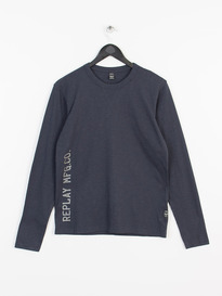 REPLAY LONG SLEEVE T-SHIRT NAVY