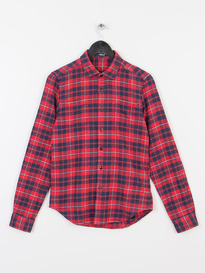 REPLAY CHECK SHIRT RED