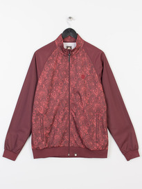 PRETTY GREEN FORTHSEA TRACK TOP DARK RED