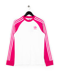 adidas 3 Stripes LS T-Shirt Pink