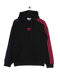Adidas 3 Stripe Hoody Black