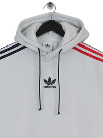Adidas 3 Stripe Hoody Grey