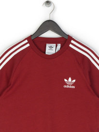 Adidas 3-Stripes T-Shirt Red