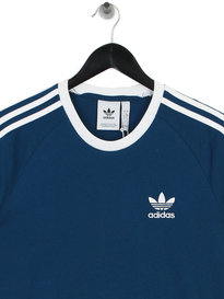 adidas 3 Stripes T-Shirt Blue