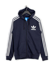 ADIDAS CALIFORNIA FT FZ HOODED TOP NAVY