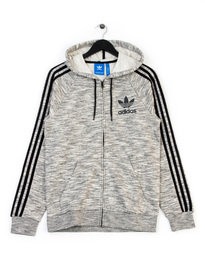 adidas California Zip up Hooded Tracktop Grey