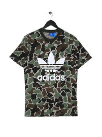 Adidas Camo Trefoil Short Sleeve T-Shirt Green