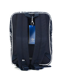 Adidas Logo Print Backpack Bag Blue