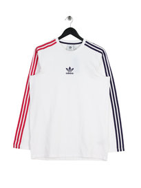 adidas Long Sleeve Stripe T-Shirt White