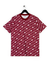 Adidas Monogram T-Shirt Burgundy