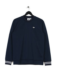 adidas Pique Crew Neck Sweat Top Indigo