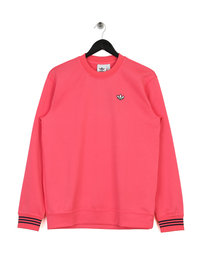 adidas Pique Crew Neck Sweat Top Pink