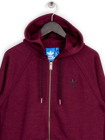 ADIDAS PT FZ HOODED SWEAT TOP MAROON