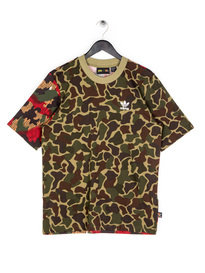 Adidas Pharrell Williams Boxy T-Shirt Camo Brown