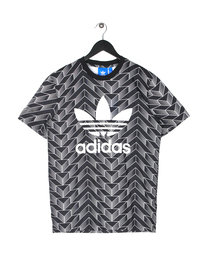 adidas Soccer AOP Short Sleeve T-Shirt Black