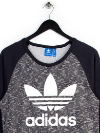 adidas Trefoil Long Sleeve T-Shirt Grey