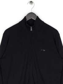 Armani Jeans Basic  Zip Up Knit Black