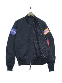Alpha Induatries 176106B MA1 TT Nasa Reversible Jacket Blue
