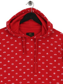 Alpha Industries All Over Hoody Red