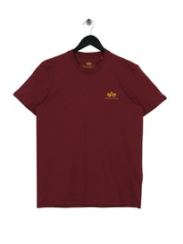 Alpha Industries Basic Small Logo T-Shirt Burgundy
