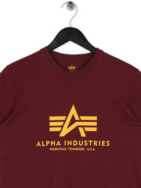 Alpha Industries B Logo T-Shirt Burgundy